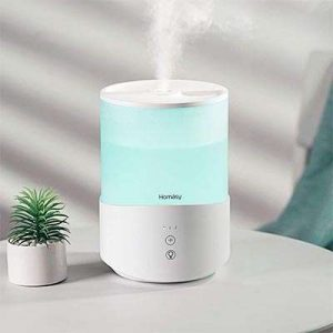 guide humidificateur d'air homasy sur table