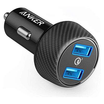 chargeur voiture QC3 Anker